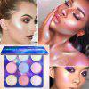 Brand CmaaDu 9 color eye shadow high gloss polarized eyeshadow dish colorful powder concealer makeup