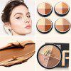 MENOW 4 Color Facial Makeup Foundation Smooth Foundation Concealer Contour Set
