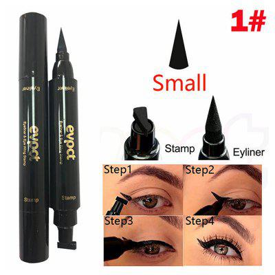 Evpct 2 in 1 black waterproof long-lasting liquid decontamination eye eyeliner cat eye tool