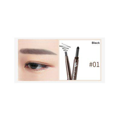 Brand DNM 3D double eyebrow pencil waterproof durable cushion eyebrow powder eye makeup