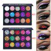 CmaaDu 15 color diamond pearl eye shadow glitter powder waterproof lasting eye makeup
