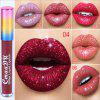 Brand cmaadu glitter powder liquid lip gloss pearlescent metal flash lipstick lasting lip makeup