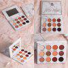 12-color marble eye shadow pearl matte waterproof long-lasting makeup eye shadow tray