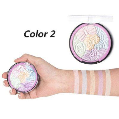 5 Color flower high gloss powder repair capacity powder durable waterproof high gloss cosmetics