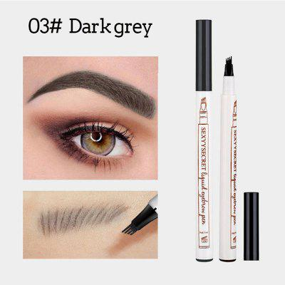 4Liquid eyebrow pencil waterproof and durable eyebrow pencil fork tip eyebrow pencil makeup tool