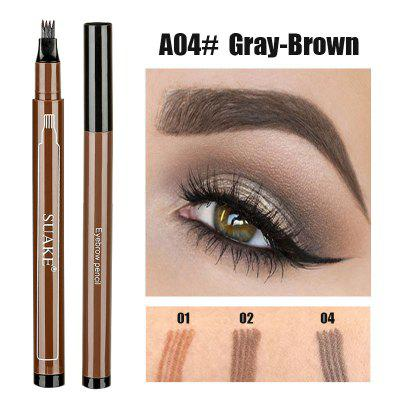 2 in 1 eyeliner four liquid eyebrow pencil waterproof multi-function long-lasting eye makeup