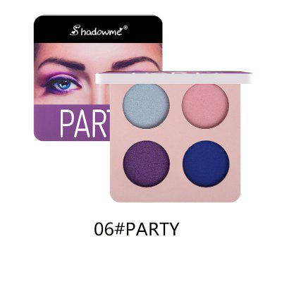 Waterproof pearlescent matte four-color eye shadow lasting eye shadow cosmetics