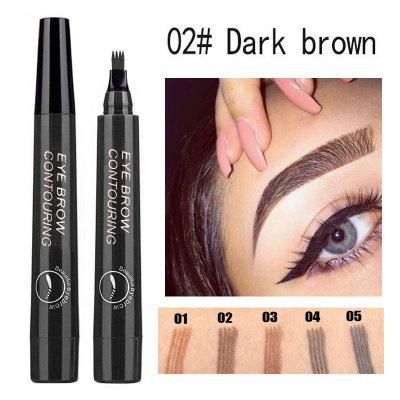 Double fork liquid eyebrow pencil waterproof long eyebrow pencil black eye makeup makeup cosmetics