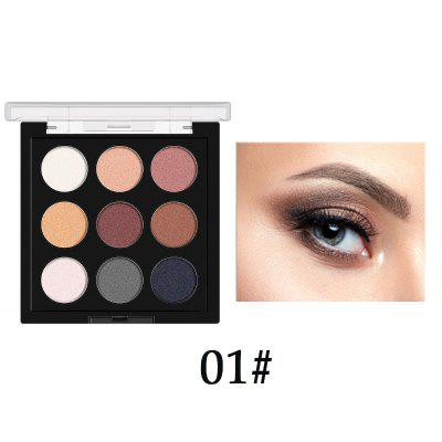 Beginner 9 color eyeshadow waterproof long lasting pearlescent matte nude makeup eye shadow