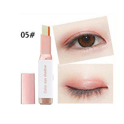 Velvet gradient two-color eyeshadow stick color pearlescent eye shadow eye cosmetics