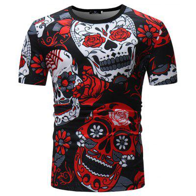 YOONHEEL T336 Mens Round Neck Casual Short Sleeve T-Shirt