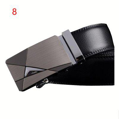 Mens belt PU iron buckle youth belt belt