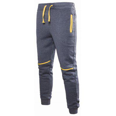 YOONHEEL Casual Pants Mens Stitching Color Sweatpants K04