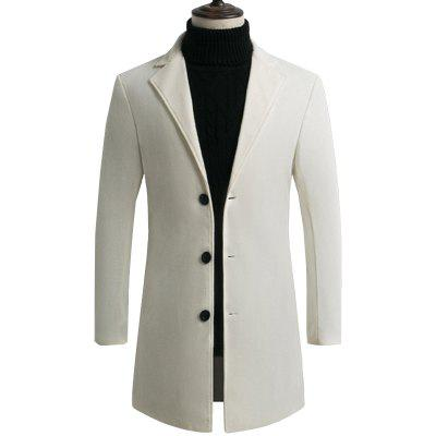 YOONHEEL Woolen Coat Autumn And Winter Mens Woolen Coat Slim Long Windbreaker Jacket D67
