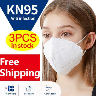 KN95 N95 Surgical Respirator Antibacterial Face Mask Virus Protection with Melt-blown  Free shipping