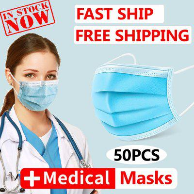 Face Masks Surgical Medical Anti Virus Disposable 3 layer Anti-bacterial Meltblown Free Shipping