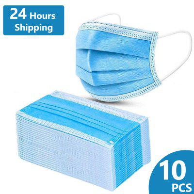 10PCS Disposable Face Masks Elastic Dust Proof Anti-bacteria Spot Splash Protection for Health Care