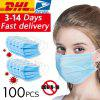 DHL100pcs chirurgicaux masques médicaux anti-virus jetables 3 couches anti-bactéries Meltblown Earloops