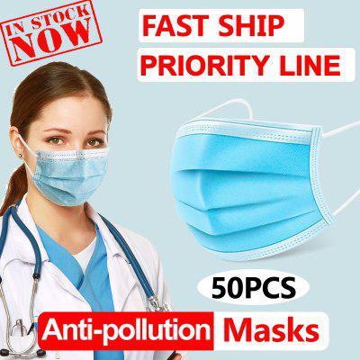 Face Masks Non Medical Anti-Pollution Disposable 3 layer  Meltblown Ordinary Thicken Free Shipping