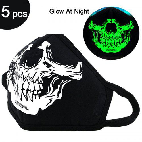 Skull Print Face Mask Personalized Washable Filter Cover Reusable Anti Pollution Dust Non-medical