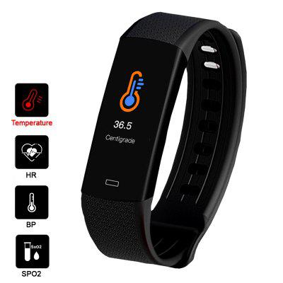 Real-time Body Temperature Detect Smart Wristband Watch Heart Rate Monitor 7 Sports Modes Sports