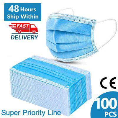 100PCS Disposable Face Mask Elastic Dust Proof Spot Splash Protection for Health Care Non-medical