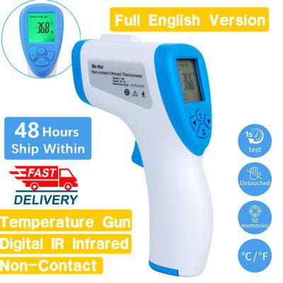 Forehead Non Contact Infrared Thermometer LCD Body Temperature Fever Digital IR Measurement Gun FAST
