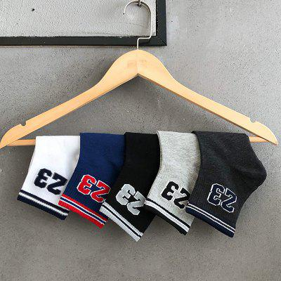 Five Pairs Of Men And Women Street Socks Ins Basketball Sports Socks In Autumn And Winter 918-w05