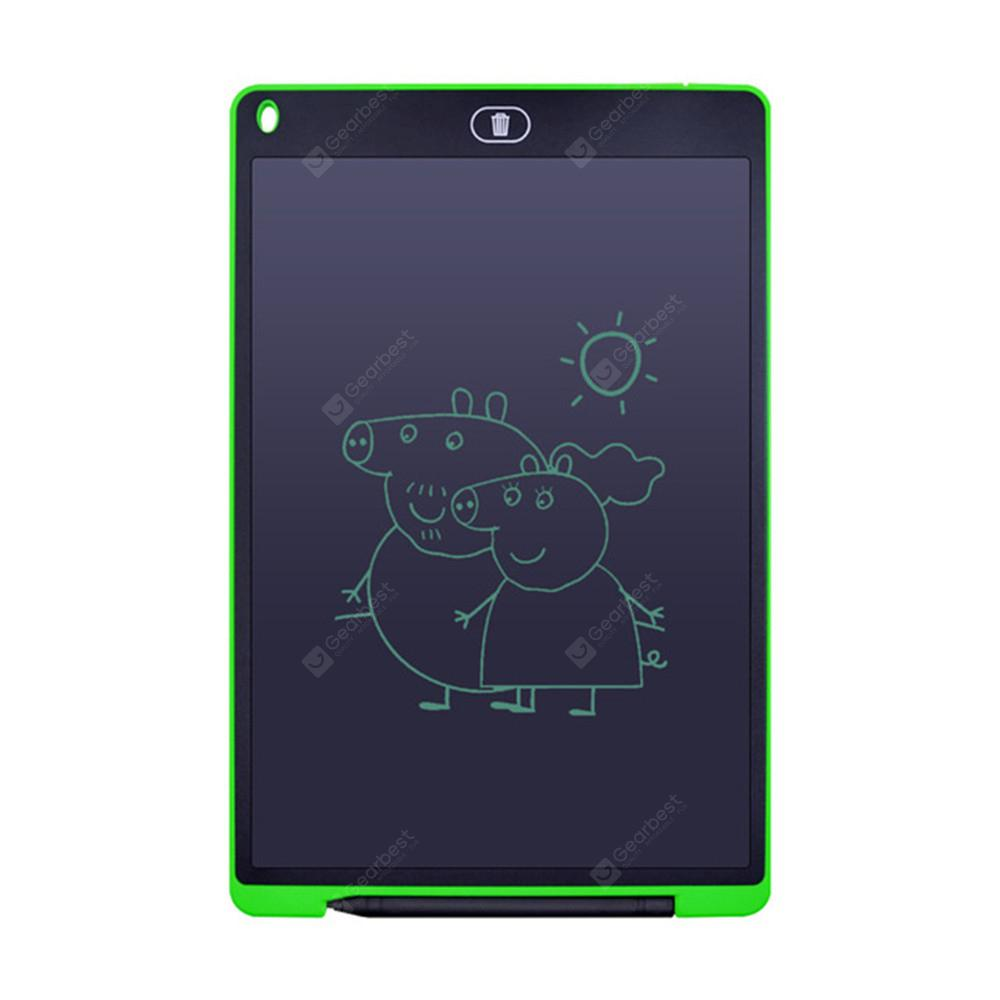 ASX 12 inch Portable Smart LCD Writing Tablet Electronic Notepad Drawing Graphics Board With Stylus - green