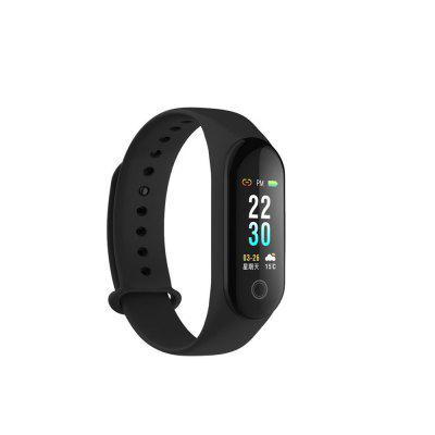 M30 Color Screen Smart Wristband Heart Rate Waterproof Alarm Clock Message Call Reminder Monitor