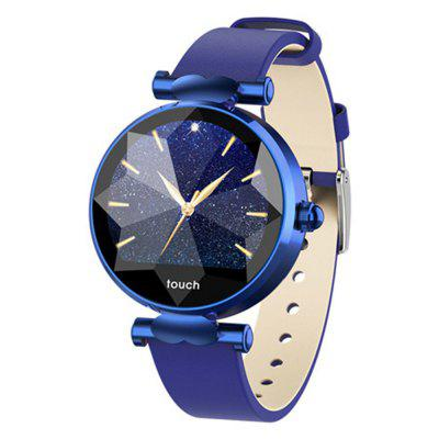 B80 Smart Bracelet IP68 watches blood pressure heart rate Leather strap for girl women gift