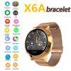 New X6A round color screen business intelligence bracelet IP68 waterproof heart rate blood pressure