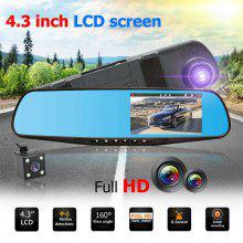 Gearbest XM201 Dual lens HD car SUV DVR video sprint camera 1080P cam driving recorder