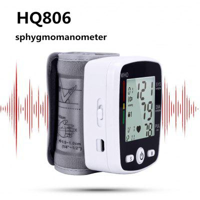 HQ806 electronic digital LCD monitor wrist sphygmomanometer heart rate measurement