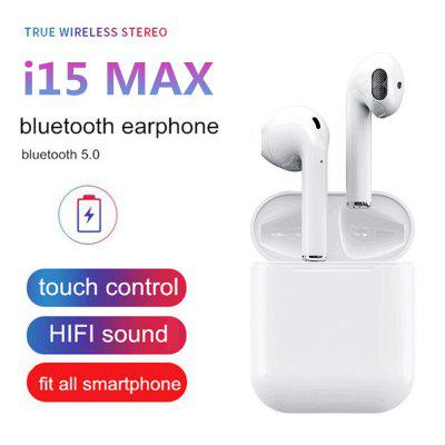 I15 max earbud wireless stereo Bluetooth headset with charging box for all smartphones