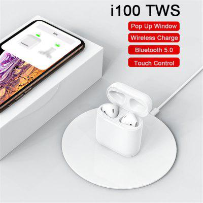 I100 TWS Wireless Charging Pop-up Touch Bluetooth Headset Subwoofer Headset