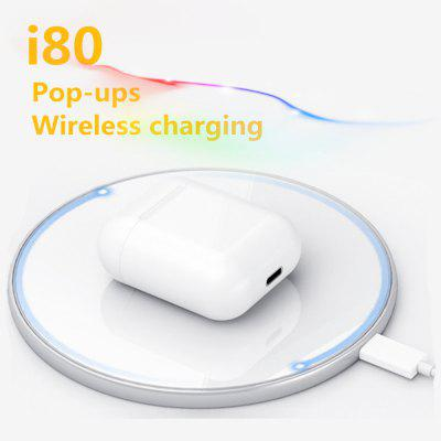 I80 Bluetooth headset with wireless charging support pop up function