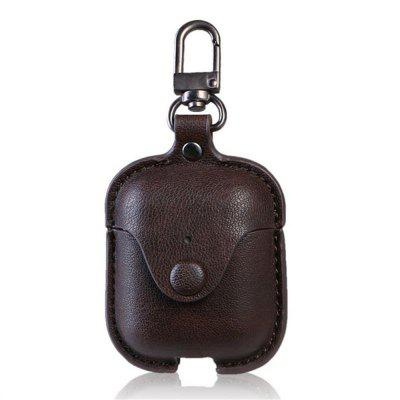 Accessories for the iPhone AirPods case key luxury leather storage bag headphone cover with key ring