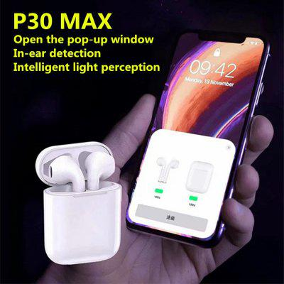 P30 Max Bluetooth Headset Smart Light Open Cover Popup with In-Ear Detection