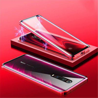 Double Sided Glass Metal Magnetic Phone Case for Xiaomi Mi 9T 9T Pro   Black