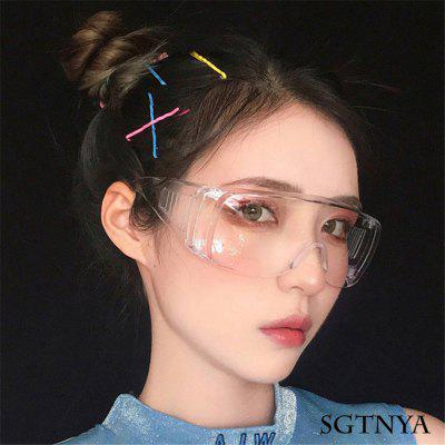 2 Pairs Of C1 Full Transparent Goggles Anti-Virus Drip Multi-Function Glasses Anti-Splash Saliva
