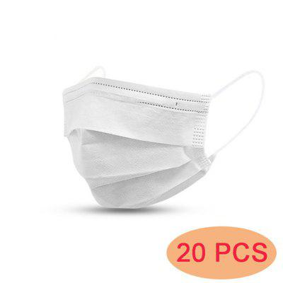 20 -- 500Pcs Male And Female Adult Cotton Dust Mask Active Filter Membrane 3 Layer Mask--white