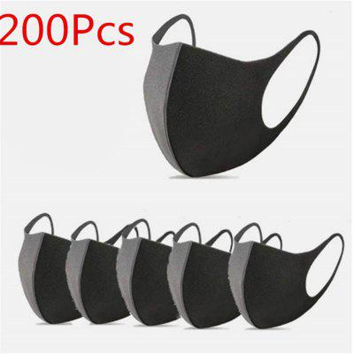 200pcsPM2.5 Dust filter black face mouth mask washable masks reusable face breathable face