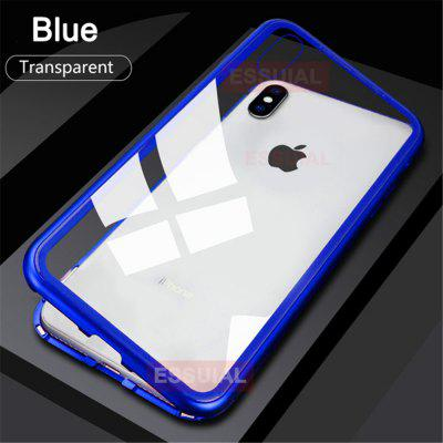 Suitable For IPhone XR Magnetic Protective Shell Adsorption Shock Toughened Glass Protective Shell Anti-peeping