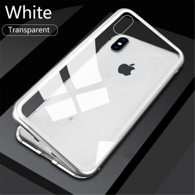 Suitable For IPhone X Magnetic Protective Shell Adsorption Shock Toughened Glass Protective Shell Anti-peeping