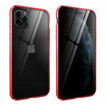 Κατάλληλο για IPhone 11POR Magnetic Protective Shell Adsorption Shock Toughened Glass Protective Shell Anti-peeping