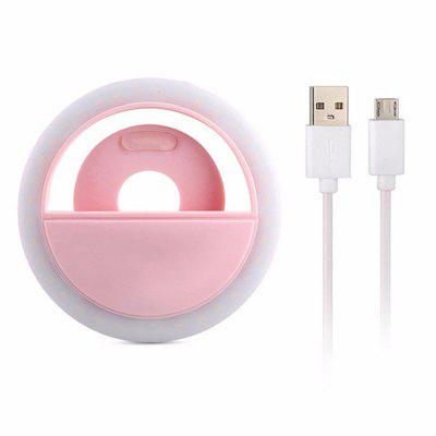 LED Ring Selfie Light USB Charging Wired USB Fill Light For IPhone And Android