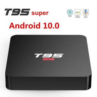 T95 Super Allwinner H3 Quad Core Smart TV Device 2G 16G Android 10.0 Set Top Box 2.4G / 5G Dual Wifi 4K H.265 Media Player