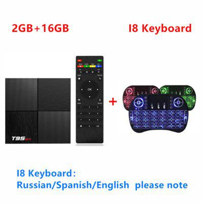 T95 Mini caja de TV inteligente Android 9.0 Allwinner H6 Quad Core 2GB 16GB  6K  mini wireless keyboardUSB 3.0 T95mini set Top Bo Image