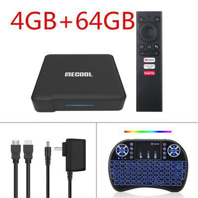 2020MecoolKM1ATVCertified by Google Android 9.0 TV Box mini i8 Wireless KeyboardAmlogicS905X3Smart Androidtv prime Video 4K Wifi Dual 2T2R Set Top Box Image